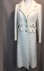 70 s Vintage Chanel wool boucle trench coat